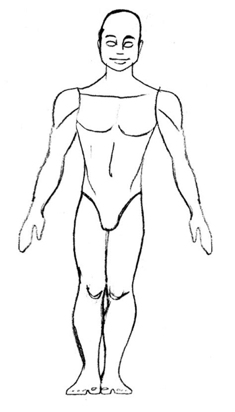 pin human figure template 735b on pinterest