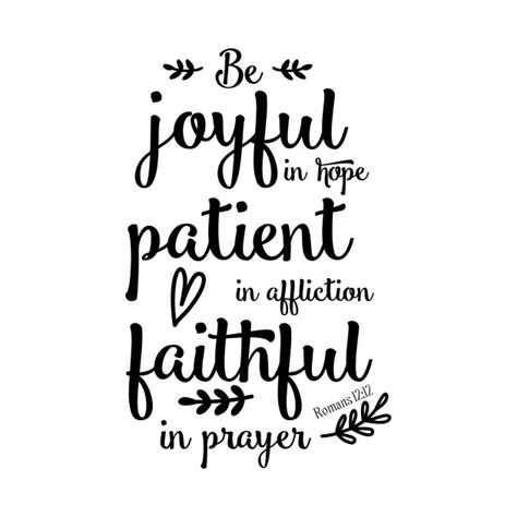 Be Joyful be joyful in romans 12 12 be joyful in romans