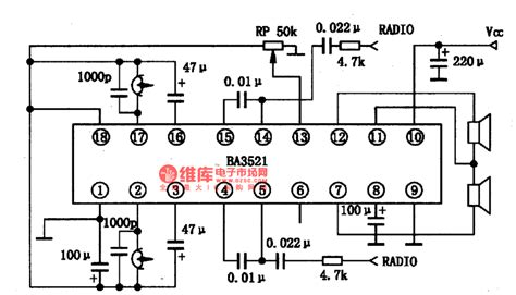 what is a radio integrated circuit ba3521 the integrated circuit of stereo reproducing single door lifier circuit circuit