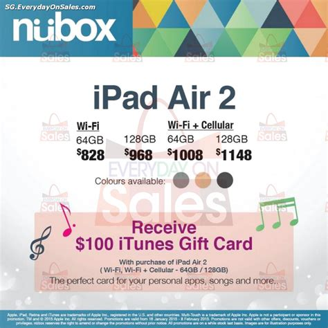 Itunes Gift Card Promotions - nubox ipad air 2 free itunes gift card promotion