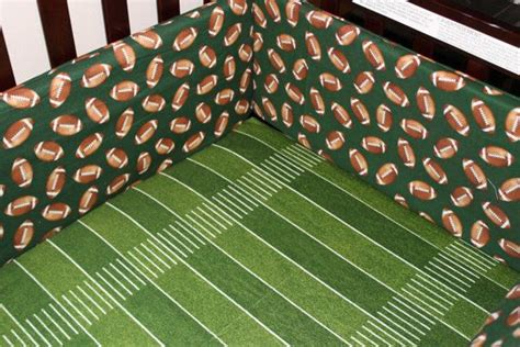 Football Crib Bedding Set with Custom Listing Football Crib Bedding Ensemble