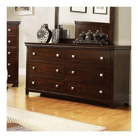 furniture of america fanquite 4 furniture of america fanquite 6 drawer dresser in brown cherry idf 7113ch d