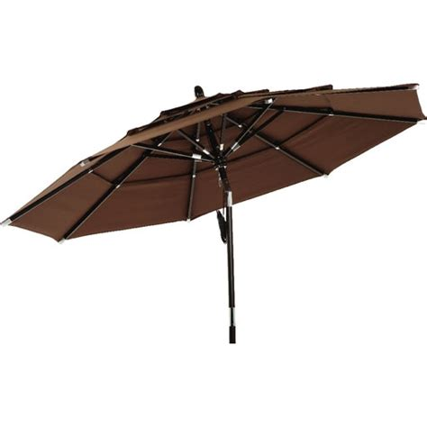 Brown Patio Umbrella 3 Tier Brown Patio Umbrella