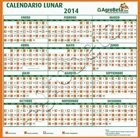 calendario del luna calendario lunar 2014 agrobeta agrobeta