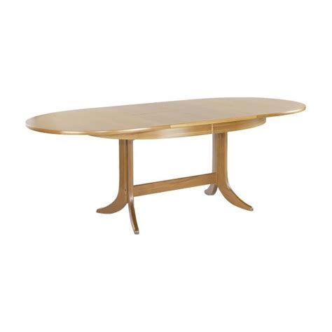 nathan classic large oval pedestal dining table at the