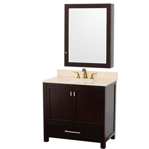 Vanity Medicine Cabinet Wyndham Collection 36 Inch Abingdon Bathroom Vanity Wc