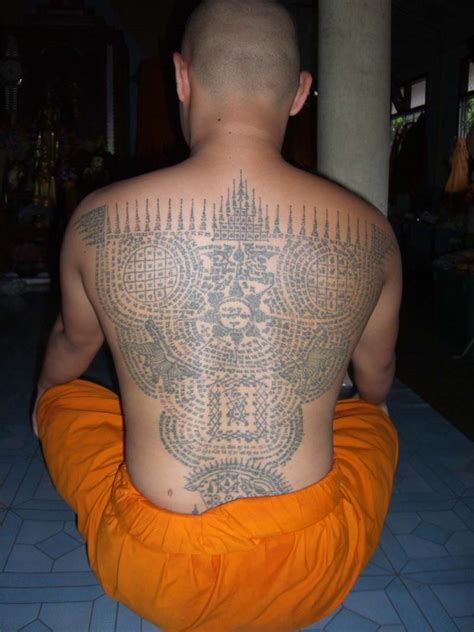thai tattoos sak yant on thai buddhist tattoos and
