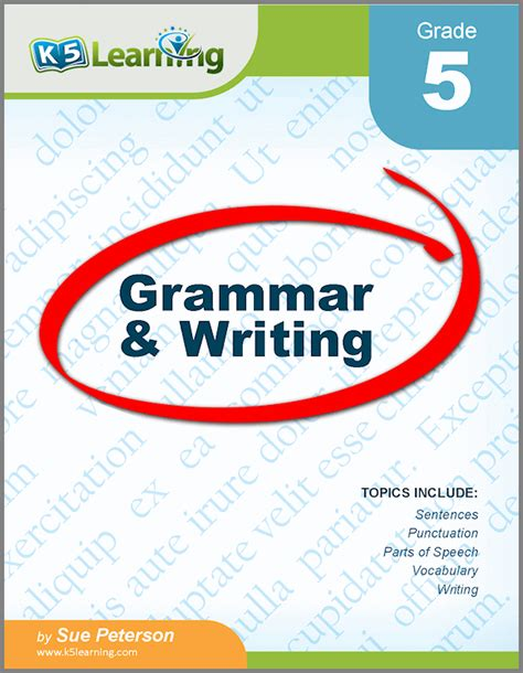 Grade 5 Grammar And Writing Workbook From K5 Learning