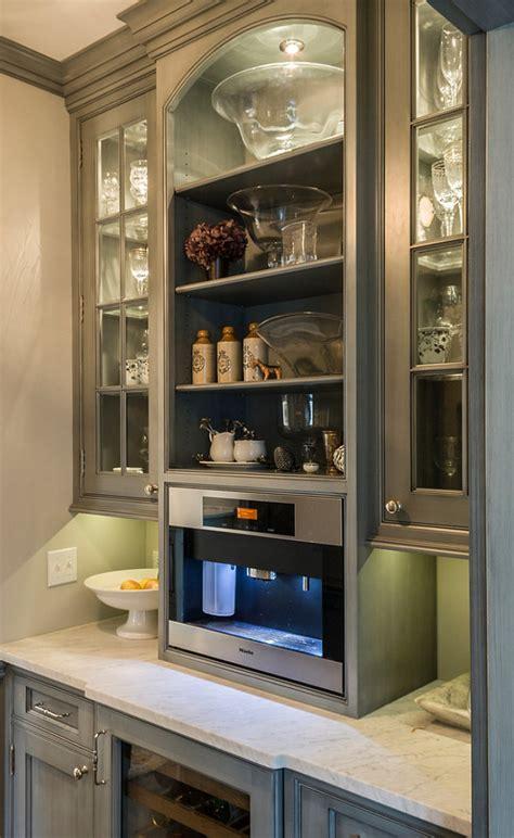 built in coffee bar scandinavian inspired gray kitchen home bunch interior