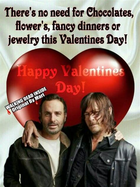 walking dead valentines day meme 61 best images about rick daryl bromance on