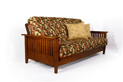 Sofa Bed Shop by Denali Wallhugger Futon Frame Cherry Wooden Sofa Bed