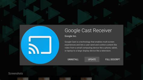 android cast cast receiver for android tv devices now in the play store talkandroid