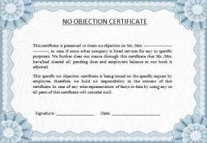 no objection certificate template 5 no objection certificate templates certificate templates