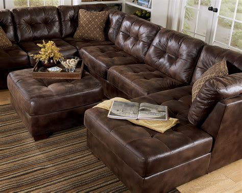 Small Loveseat With Chaise Lounge Frontier Canyon Chaise Sectional By Ashley Furniture