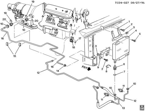gmc parts diagram hose transmission cooler genuine gm part 15051892