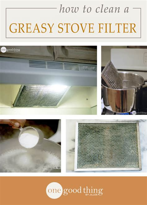 How To Clean Kitchen Chimney Grease by How To Clean A Greasy Stove Filter One Thing By Jillee