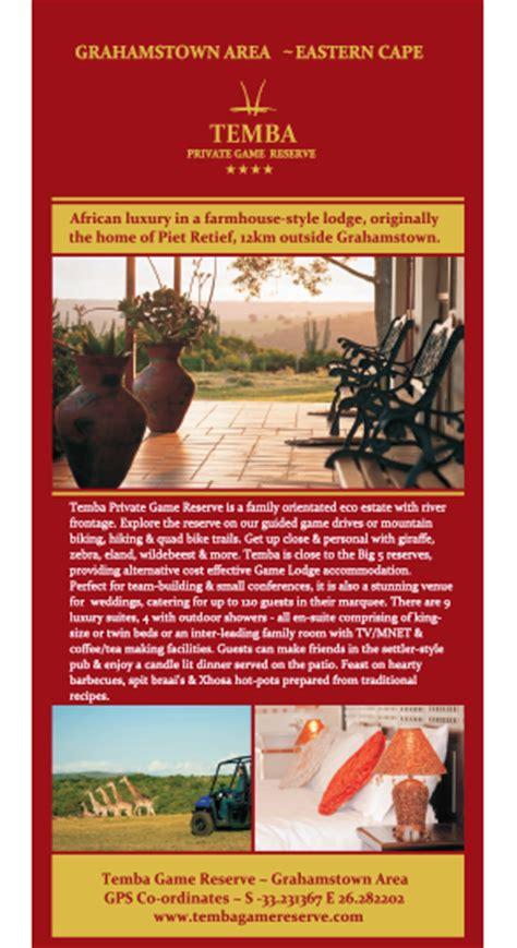 Usiu Africa Mba Brochure by Grahamstown Luxury Farmhouse Accommodation Temba