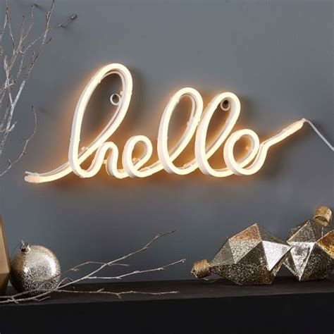 hello lights led light up word objects hello elm