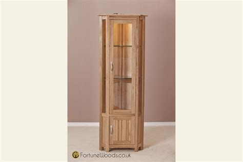 Corner Dining Room Cabinet by Milano Corner Oak Display Cabinet At Fortune Woods