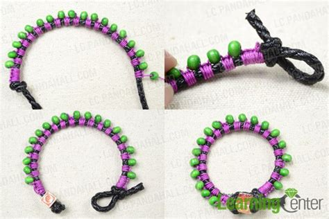 How To Make Macrame Bracelets Step By Step - how to make mung macrame bracelet with wood step by