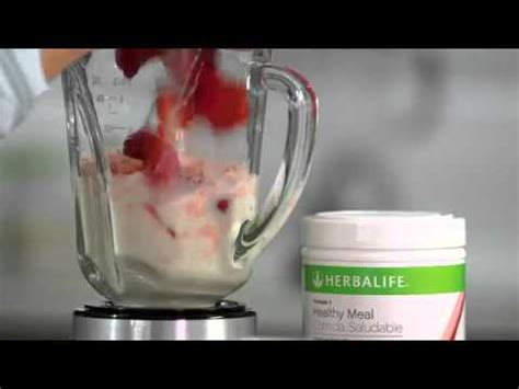 Herbalife Shake F1 Berry herbalife formula 1 shake berry make a strawberry