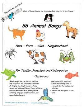 animal songs  lisas key birth  grade  tpt