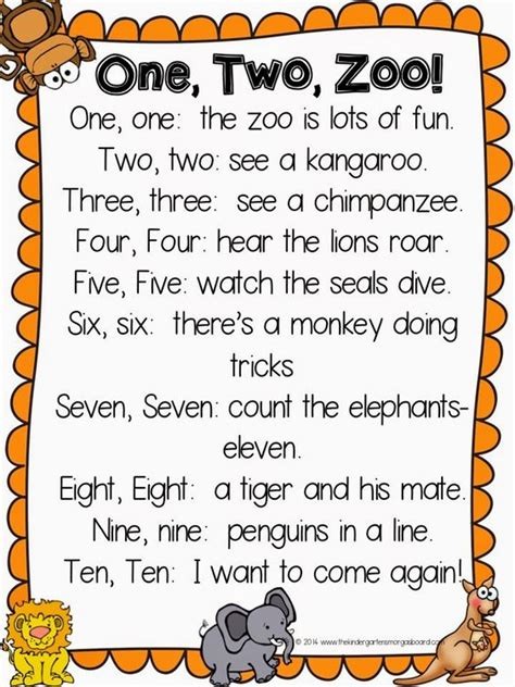 themes of indian english poems one two zoo poem great poem for zoo week or zoo