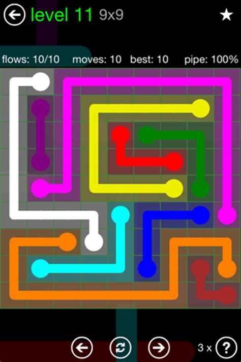 Set Greenflow flow free solutions flow green pack set 9x9 level 11