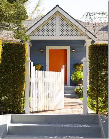 blue house orange door tangerine tango pantone s color of the year 2012
