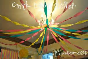 Decorating Ideas With Streamers Crepe Paper Decorations Ipinterest