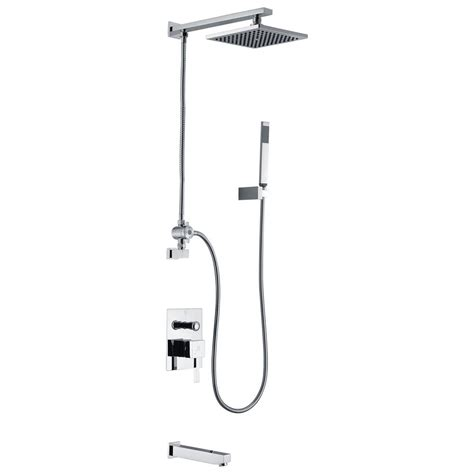 bathtub faucet with sprayer anzzi byne 1 handle 1 spray tub and shower faucet with