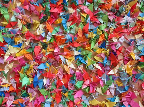 Thousand Origami Cranes - 1000 origami cranes for 1000 strangers magical daydream