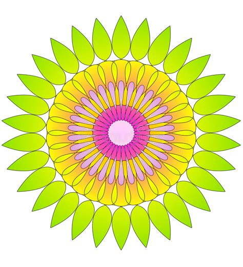 pattern education abstract flower abstract circular pattern stock illustration