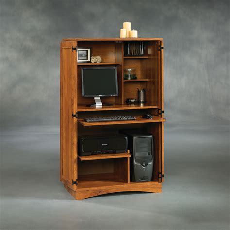 Sauder Armoire Desk by Sauder Harvest Mill Computer Armoire 404958