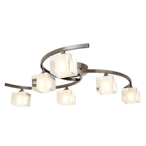 Ice Cube 6 Light Fitting Pewter Ceiling Light Pewter Ceiling Light