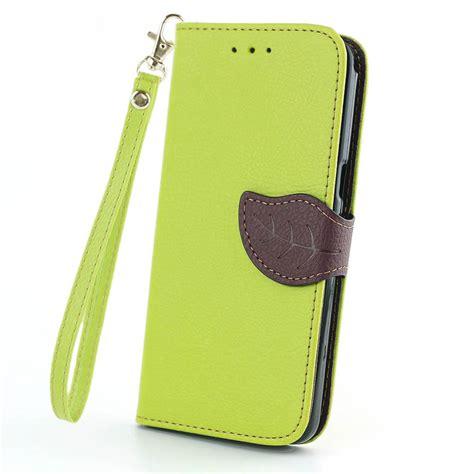 Samsung Grand Prime G530 G5308w Ume Flip Cover Leather Sarung Hp leaf design wallet leather flip cover for samsung