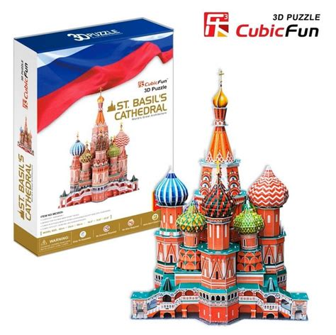 Promo Cubic Puzzle 3d Series Giraffe 3d puzzle russia basil the blessed cathedral of moscow difficulty 7 8 cubic
