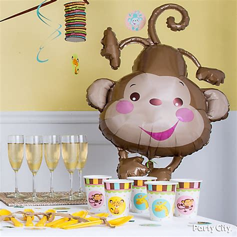 City Monkey Baby Shower Theme by Jungle Theme Baby Shower Balloon Decorations Idea