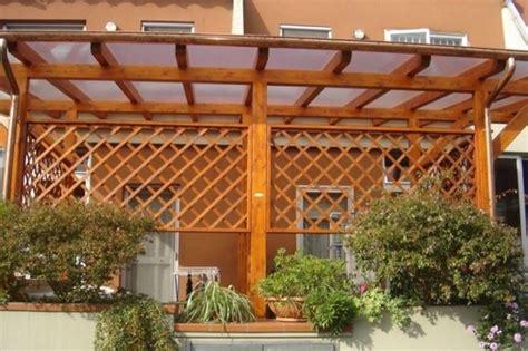 tettoia in legno per terrazzo coperture terrazzi in legno pergole e tettoie da