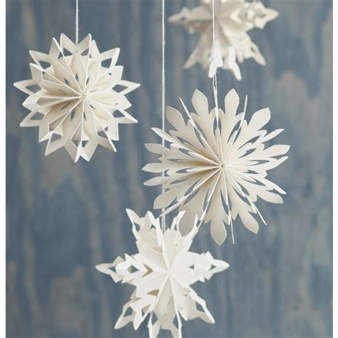 Ellinee The Paper Snowflake - paper snowflake ornaments paper treasures and
