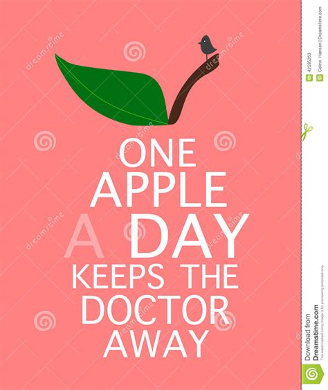 Apple A Day Keeps The Doctor Away Essay by One Apple A Day Keeps The Doctor Away Stock Illustration Image 42595263