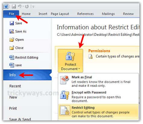 Edit Protected Word Document