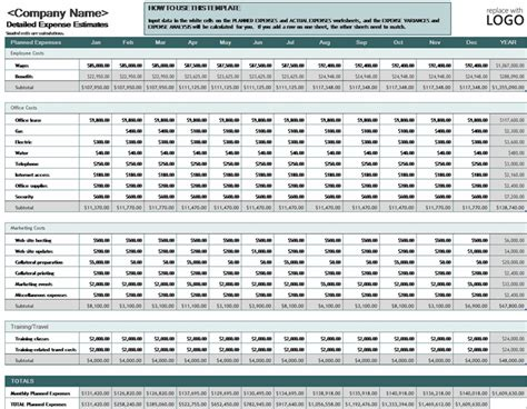 Excel Business Budget Template by Free Excel Monthly Budget Template Calendar Template