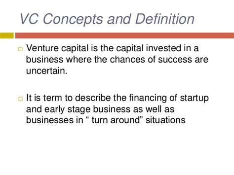 Ppt On Venture Capital For Mba Students by Venture Capital Presentation