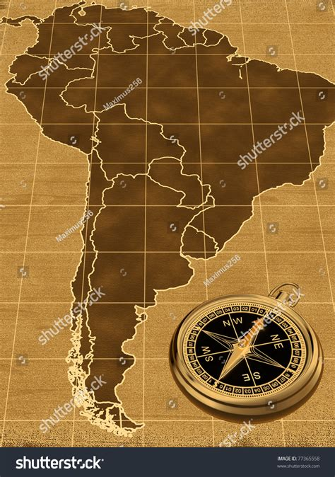 map of usa with compass map of south america on the background with compass
