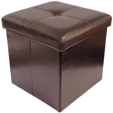 foldable storage ottoman with lid folding storage pouffe stool seat ottoman box with button