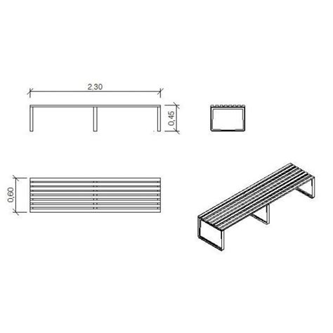 bench design cad block cadblocksfree cad blocks free