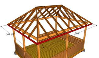 4 Sided Roof Construction How To Build A Hip Roof Gazebo 28 Images 4 Sided