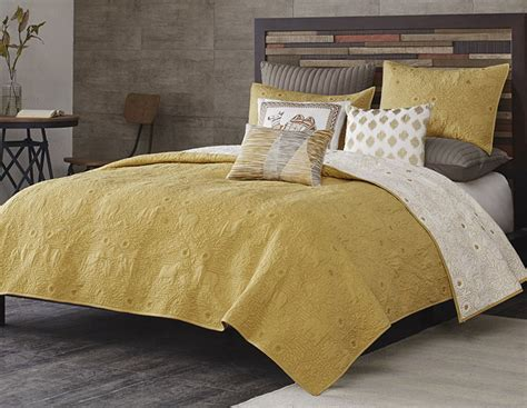 yellow coverlet kandula yellow coverlet by ink ivy bedding