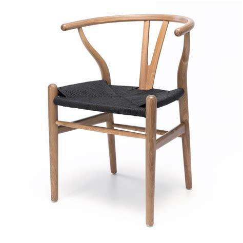 wishbone oak  black seat lounge living